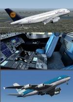 FSX/P3D>v4 Airbus 380-800 Multi Livery pack