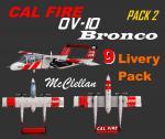 FSX/P3D Aerosoft OV-10 CAL FIRE TexturesPack 2