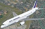 FS2004                   Airbus A320-200 Air France textures only.