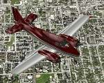 FS2000                   Beechcraft Queenair 70. The Beechcraft Queenair 70 painted in                   a high gloss Brownish Red with aluminum wings and underbelly.