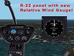 FS2002                   Robinson R-22B panel.