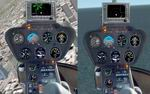 FS2002                   Robinson R-22 R-44 Photorealistic helicopter panel