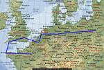FS2004 North Sea Europe Flight Plans in Spanish
