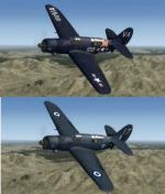 FSX/P3D Curtiss Helldiver  SB2C 3 livery pack