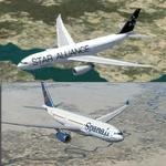 Spanair Airbus a330-200 New and Star Alliance Package