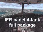FS2004                   DC-3 Bare Metal Aircraft, IFR Panel, 4-Tank Full Package