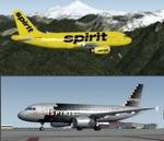 P3D >3 & 4/FSX Airbus A319-100 Spirit Airlines Old and NC package
