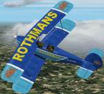 FS2002                   Stampe RSV4 Rothmans Aerobatic Livery.