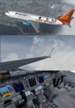 FSX/P3D Boeing 737-800 Sunwing 4 livery package