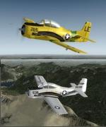 P3D V3 & 4 / FSX North American T-28 Trojan 3 livery Package