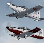 FSX/P3D Raytheon/Beechcraft T-6 Texan II  Military Trainer Pack 4