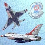FS2004                   2-Seater Gmax F-16 Viper Thunderbird jet.