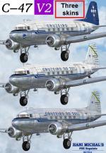 FSX C-47 Skytrain v2 Cruzeiro do Sul Textures