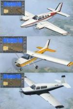 3 New Glass Cockpit Textures for FSX Default Props