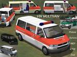 FS2004                   VW Multivan - German Emergency Vehicles Pack.