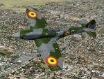 FSX/FS2004 Spitfire Mk XIV clipped bubbletop