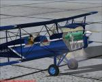 Spike's Stampe SV4 with Engine Fire Effects