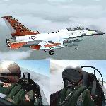 FS2004                   2-Seater Gmax F-16 Viper Edwards Test Center.