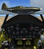 FS2004/FSX/P3D v3 Republic XP-47H Pursuit Experimental